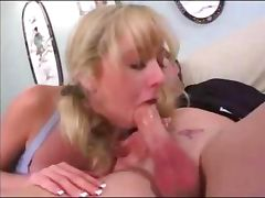 Blonde girl loves anal sex