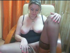 Busty ayllinna is horny in her web show