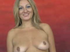 Blonde has rough start to porn career with immediate deepthroat post interview tube porn video