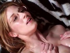 Blonde nerd gives hot tittfuck tube porn video