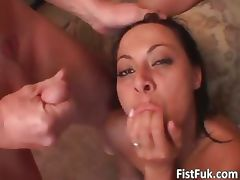 Hot milf getting fucked by three part1 tube porn video