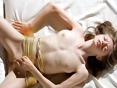 Super bony girl fingering her snatch tube porn video
