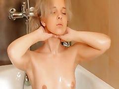 Shaving of hot 18yo blonde pussy