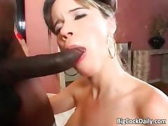 Dirty slut grabs black big cock part4