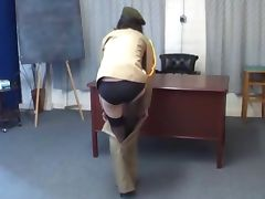 Army Discipline Spanking with the Cane porn tube video