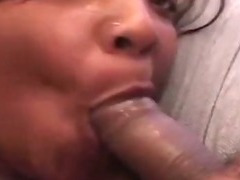 Chubby ebony loves two cocks at once