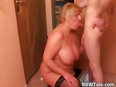 Fat slut fucks like crazy with her part4