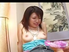 Playing with her tokyo hairy pussy