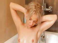 Shaving of beautiful 19yo blonde pussy