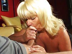 Horny blonde granny blowjob tube porn video