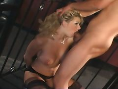 Busty blonde probes she is a insatiable slut tube porn video
