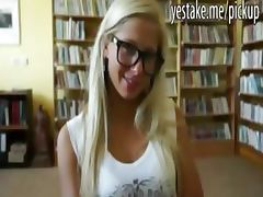 Blonde euro teen analed in the library tube porn video