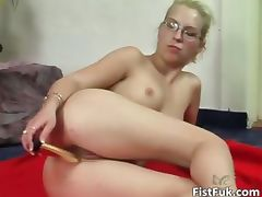 Blonde slut with glasses having fun part5 tube porn video