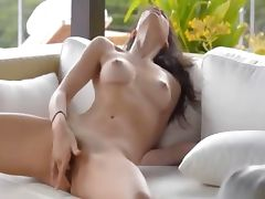 Absolutely gorgeous woman masturbating
