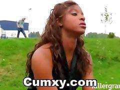 Ebony Addicted To Pussy Creampie tube porn video