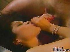 This slut loves jizz