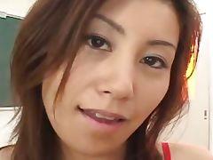 Asian in pantyhose gets twat teased