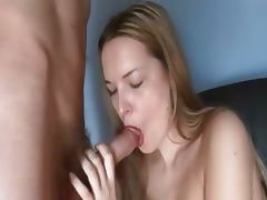 Sex and great blowjob on the black chair tube porn video