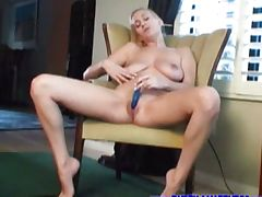 Busty Autumn fingering her pussy