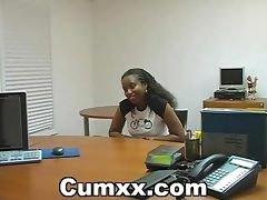 Sexy Black Sucking And Fucking In Office tube porn video