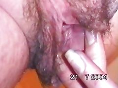 michelle shoving her fist up her large hairy