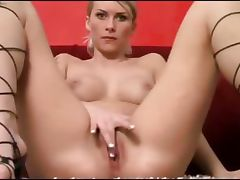 Hot blonde loves banana tube porn video