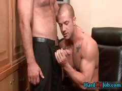 Two hot guys fucking ass and sucking