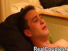 Real couple play on the bed tube porn video