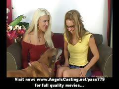 Wonderful stunning lovely blonde lesbians undressing tube porn video