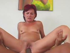 GRANNY AWARD 1 redhead mature with a young man
