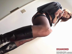 Pegging femdom strap on domination spanking tube porn video