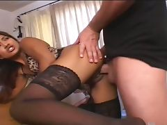 Latin asshole creampied