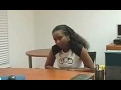 Ebony Got Hot Cum In Mouth