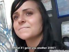Horny brunette amateur girl gets talked part5