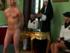 Femdom schoolgirls and their teacher spank loser tube porn video