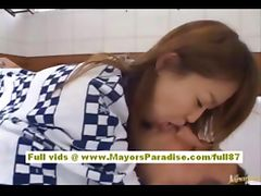 Japanese AV model gets fucked in the hotel