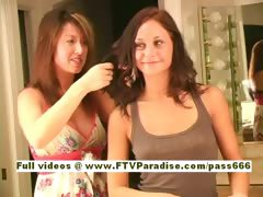 Vanesa Ingenious gorgeous redhead babe arrange her hair tube porn video
