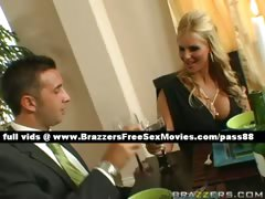 Stunning blonde wife at the table with her husband tube porn video