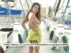 Andrea Ingenious sexy amateur teen redhead public flashing