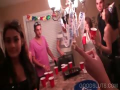 Gangbang with naked hoes giving BJs tube porn video