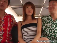 Hot asian redhead babe sucking cock tube porn video