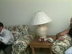 Wild daddies in uniform nasty cock eating orgy