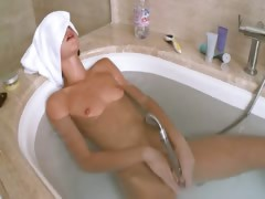 Petite russian girl in the amazing bath