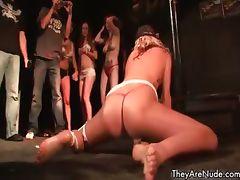 Wet party slut showing her tits part4