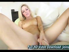 Emily sexy blonde babe she masturbates tube porn video