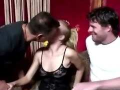 Hungry dutch real whore sucks on cock
