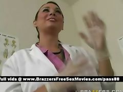 Sexy brunette doctor in her office tube porn video