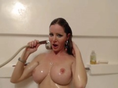 HOT Blonde Masturbates in the Shower HD