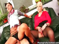 Hot blonde and brunette whores go crazy part3 tube porn video