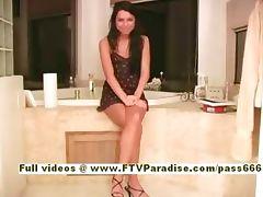 Michaela Ingenious amazing hot brunette babe talking